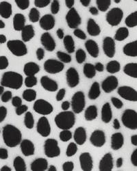 White Animal Print Faux Fur Fabric  DU15872 295 BLACK/WHITE