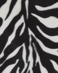 White Animal Print Faux Fur Fabric  DU15873 295 BLACK/WHITE