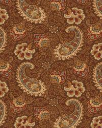 Red Classic Paisley Fabric  03272 Driftwood