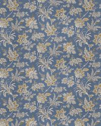 Blue Small Print Floral Fabric  03269 Chambray