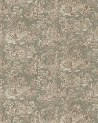 Green French Country Toile Fabric  03271 Seafoam