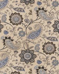 Blue Classic Paisley Fabric  03287 Indigo