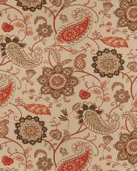 Orange Classic Paisley Fabric  03287 Persimmon