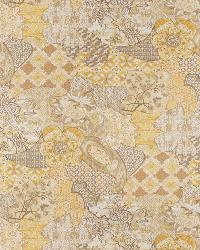 Yellow Oriental Fabric  Bako Chamomile