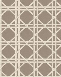 Grey / Linen Oriental Fabric  Vlad Lattice Grey