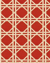 Red Oriental Fabric  Vlad Lattice Red