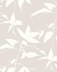 Persimmon Leaf Wallpaper Beige by