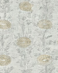 French Marigold Wallpaper Gold White by