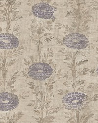 French Marigold Wallpaper Tan  Purple by