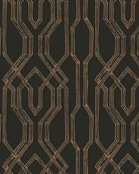 Oriental Lattice Wallpaper Black  Gold by