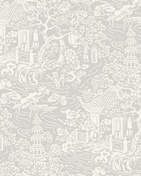 Chinoiserie Wallpaper Grey by