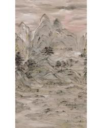 Misty Mountain Mural Beige by