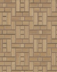 Teahouse Panel Wallpaper Brown by