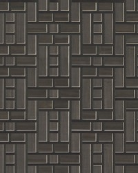 Teahouse Panel Wallpaper Black by