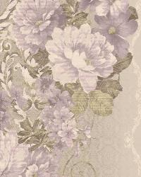 Floral Stripe 3 Grey Lavender AR7718 by