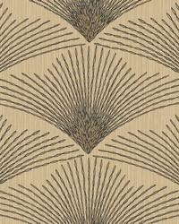 Shimmering Fan Wallpaper beige  black  tan  amber by