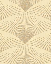 Shimmering Fan Wallpaper beige  metallic silver  metallic gold by