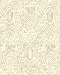 Luxury Paisley Wallpaper cream  light grey  beige by