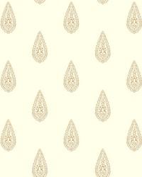 Luxury Teardrop Wallpaper off-white  metallic gold  metallic silver by