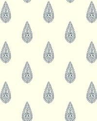 Luxury Teardrop Wallpaper white  dark blue by