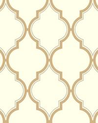 Luxury Trellis Wallpaper off-white  metallic gold  metallic silver by