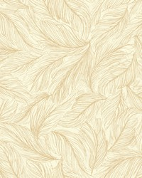 Light As A Feather Wallpaper off-white  metallic gold by