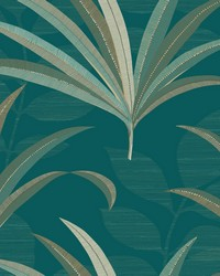 El Morocco Palm Wallpaper Blues by