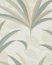 El Morocco Palm Wallpaper White Off Whites by