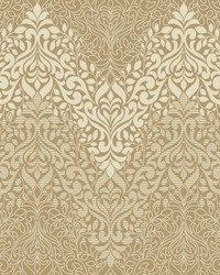 Folklore Wallpaper metallic gold off white by