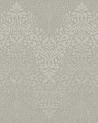 Folklore Wallpaper metallic gray off white by