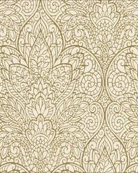 Paradise Wallpaper off white metallic gold by