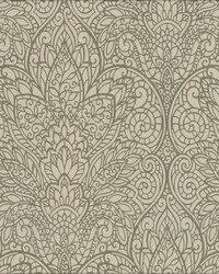 Paradise Wallpaper brown metallic copper by