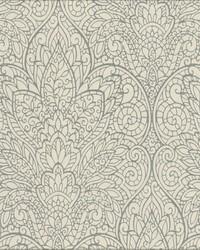 Paradise Wallpaper metallic gray white by