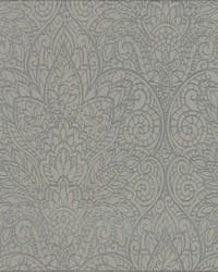 Paradise Wallpaper gray metallic gray by
