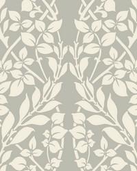 Botanica Wallpaper metallic gray off white by