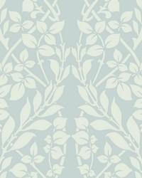 Botanica Wallpaper blue white by