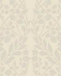 Botanica Wallpaper off white pearl white by