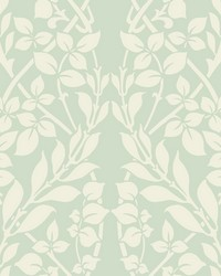 Botanica Wallpaper green white by