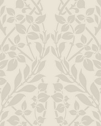 Botanica Wallpaper beige iridescent gold white by
