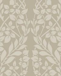 Botanica Wallpaper brown metallic gray by