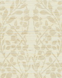 Botanica Organic Wallpaper gold metallic silver metallic brown by