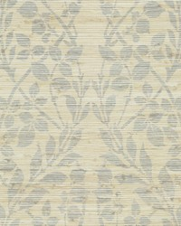 Botanica Organic Wallpaper silver metallic gray by