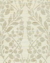 Botanica Organic Wallpaper silver metallic green by