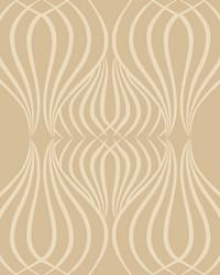 Eden Wallpaper gold white by