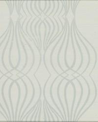 Eden Sisal Wallpaper blue white metallic by