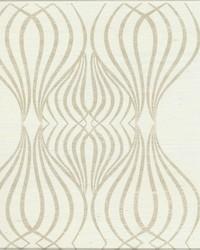 Eden Sisal Wallpaper brown white metallic by