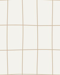 Off the Grid Wallpaper - Gold Cream Metallics by