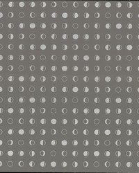 Lunar Wallpaper - Taupe Silver Blacks by