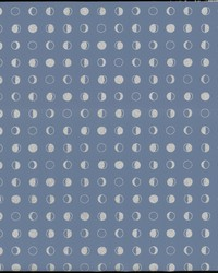 Lunar Wallpaper - Denim Sliver Blues by