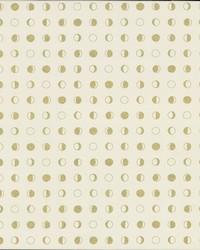 Lunar Wallpaper - Cream Gold White Off Whites by